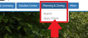 mygovernmentonline planning & zoning tab